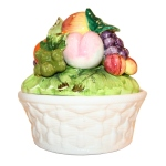Ceramic fruit basket and lid cropped