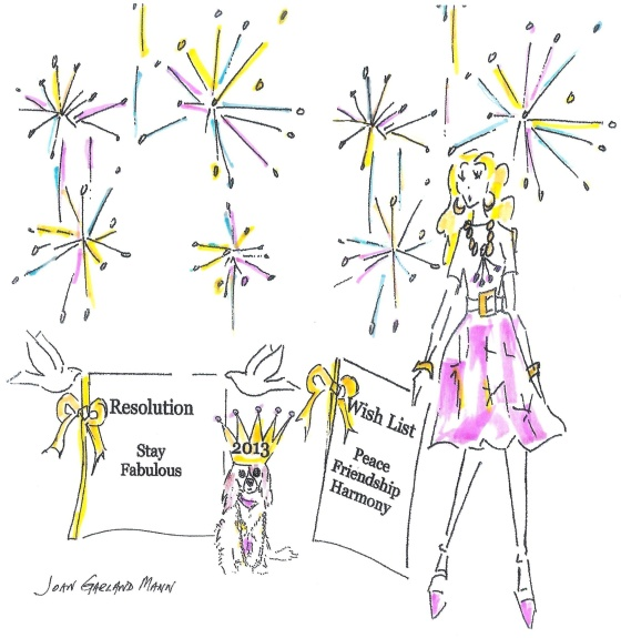Garland Collection Happy New Year Card 2013 by JGM