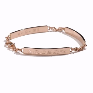 Garland Collection rose gold 3 ID bracelet with shadow cropped hi res