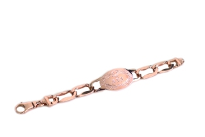 Large rose ID bracelet
