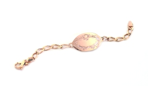 Small rose ID bracelet