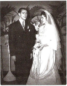 Leona and Stanley Garland on their wedding day - August 29, 1947.